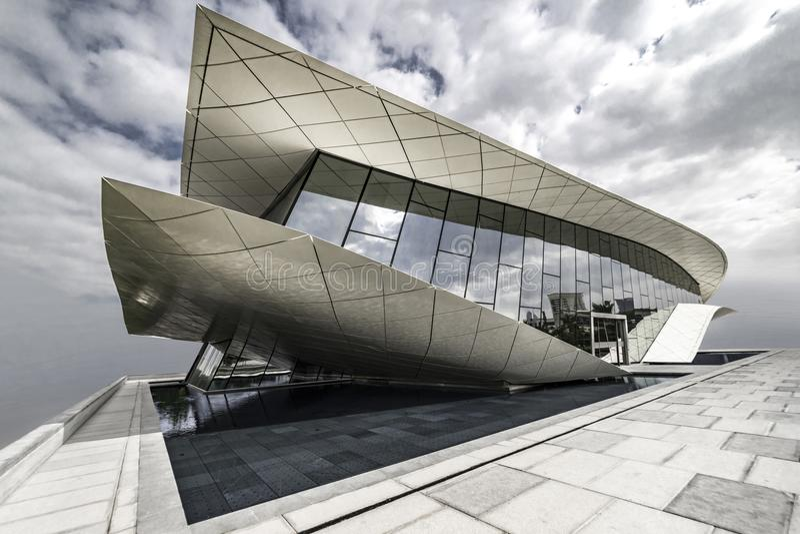 Museu de Etihad, Dubai, emirado de árabe unido, janeiro 2018 fotos de stock royalty free
