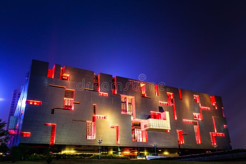 Museu de Guangdong na noite fotos de stock