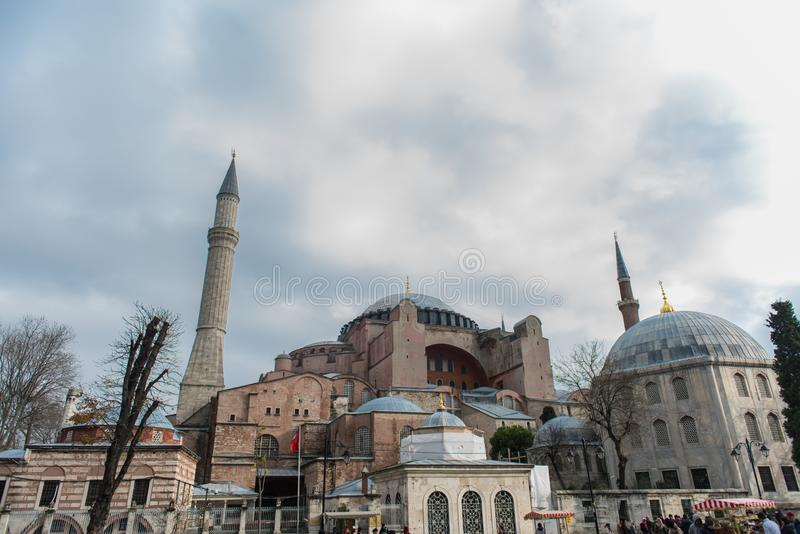 Museu de Hagia Sophia, Istambul, Turquia foto de stock royalty free