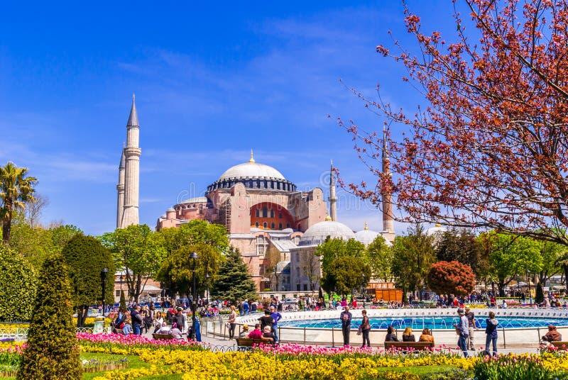 Museu de Hagia Sophia, Istambul, Turquia foto de stock