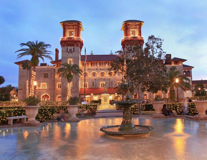 Museu de Lightner e quadrado do Alcazar da praça da cidade em St Augustine, Florida fotos de stock royalty free