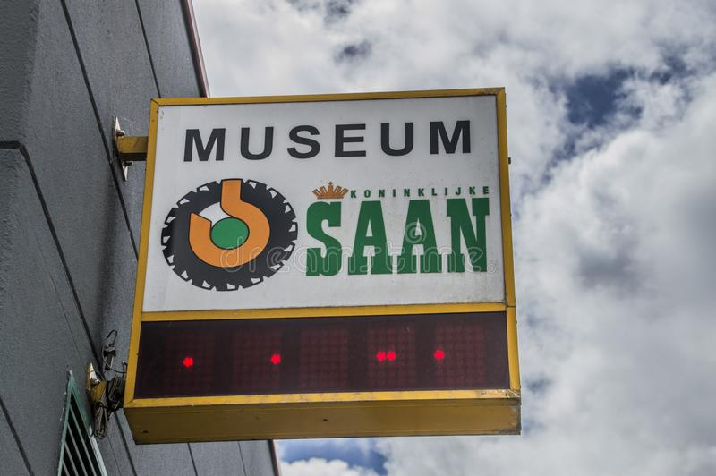 Museu de Logo From The Saan Company fotos de stock