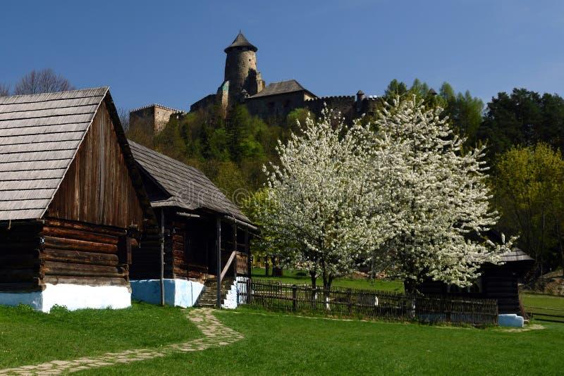 Museu de Lubovna & castelo, região de Spis, Eslováquia fotografia de stock