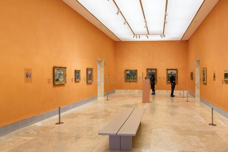 Museu de Madrid-Thyssen-Bornemisza foto de stock