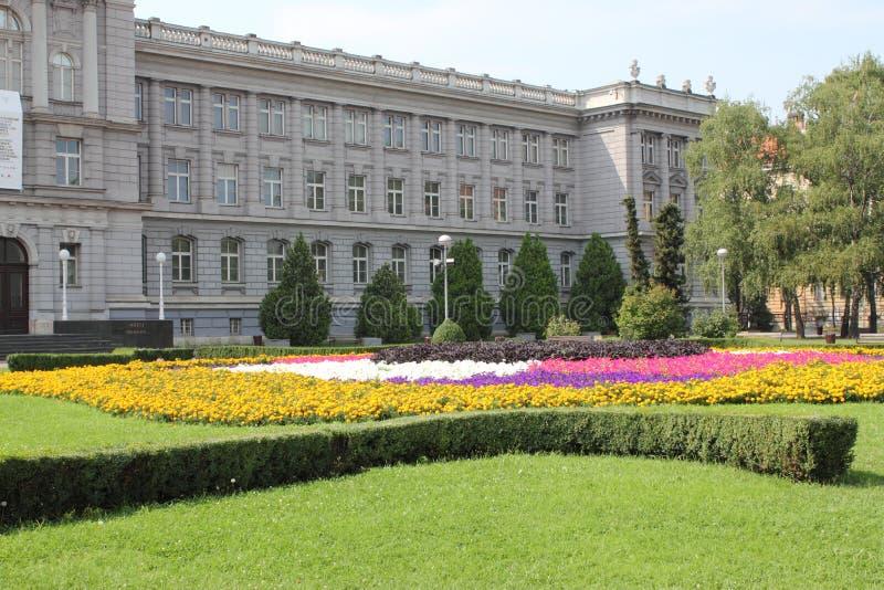 Museu de Mimara em Zagreb fotografia de stock