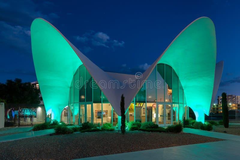 Museu de néon fotografia de stock royalty free