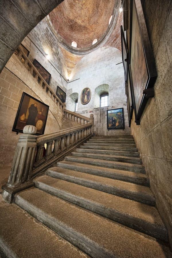 Museu de pedra da escadaria de San Agustin Church, Manila, Filipinas fotos de stock