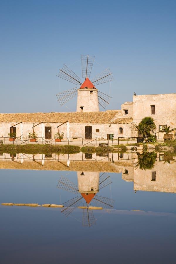Museu de sal, Trapani, Sicília fotos de stock royalty free