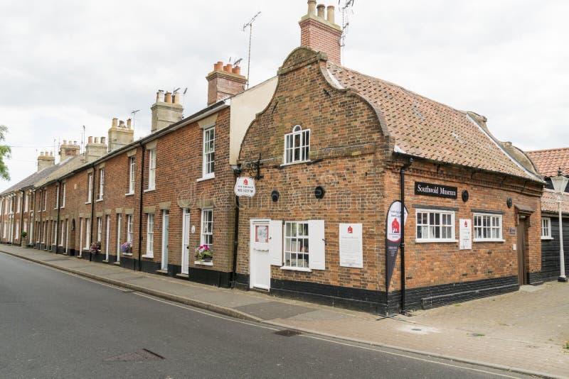 Museu de Southwold e casas de campo antigas imagem de stock royalty free