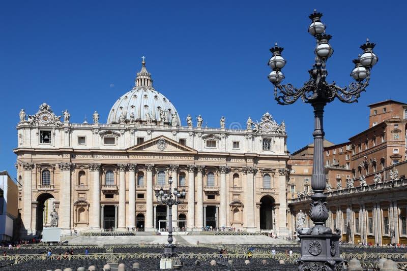 Museu de Vatican na basílica de St. Peter em Roma fotos de stock