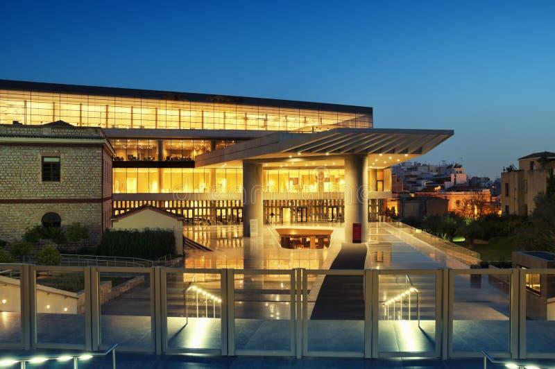 Museu do Acropolis, Atenas fotografia de stock