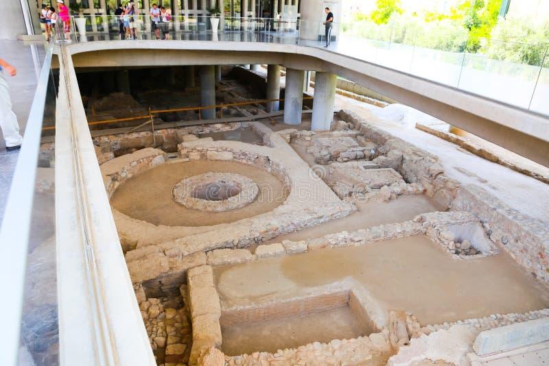 Museu do Acropolis, Atenas fotografia de stock royalty free