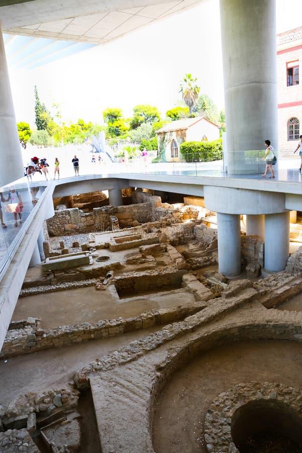 Museu do Acropolis, Atenas fotos de stock