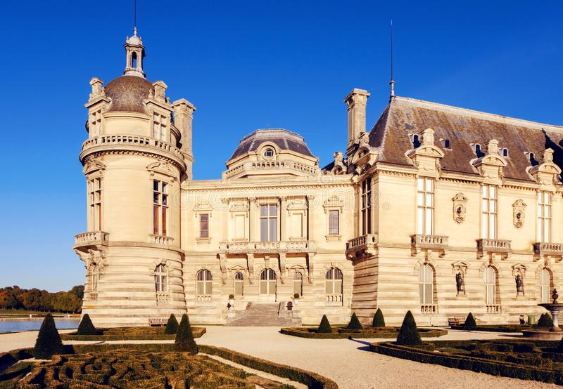 Museu do castelo de Chantilly imagem de stock