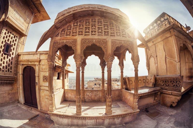 Museu do forte de Jaisalmer foto de stock