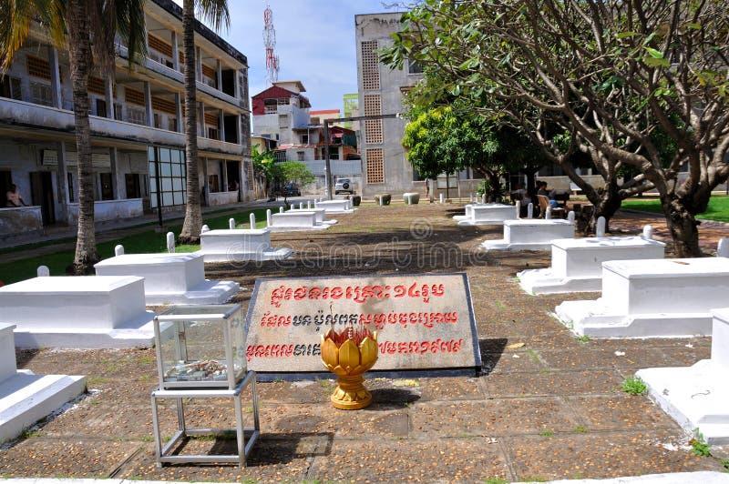 Museu do genocídio de Tuol Sleng, Phnom Penh, Cambodia foto de stock royalty free