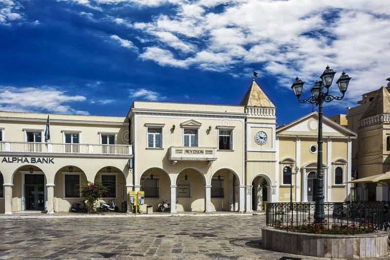 Museu do herói nacional de Grécia Dionysios Solomos Grécia, imagens de stock