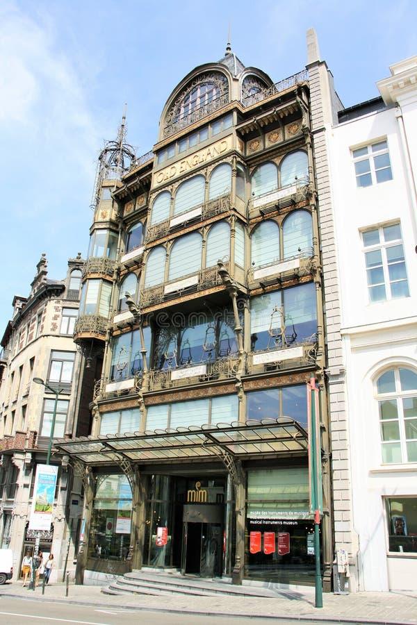 Museu do instrumento musical em Bruxelas, Bélgica fotografia de stock