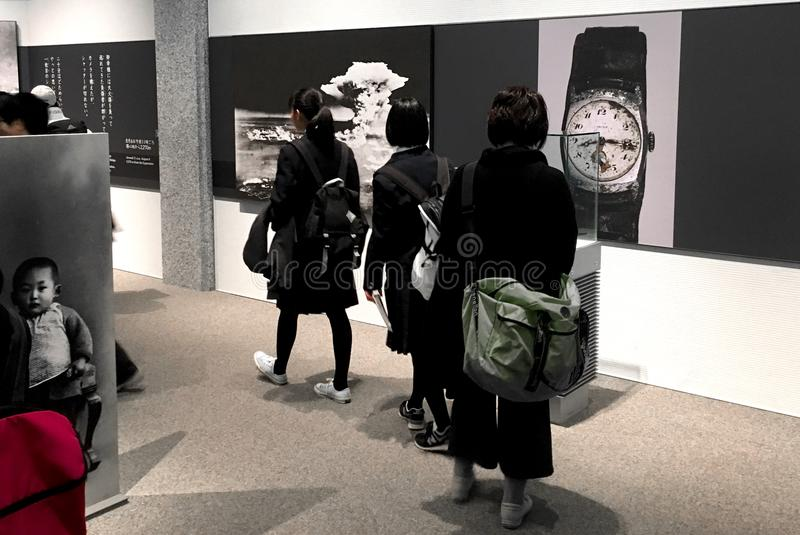 Museu do memorial da paz de Hiroshima fotografia de stock royalty free