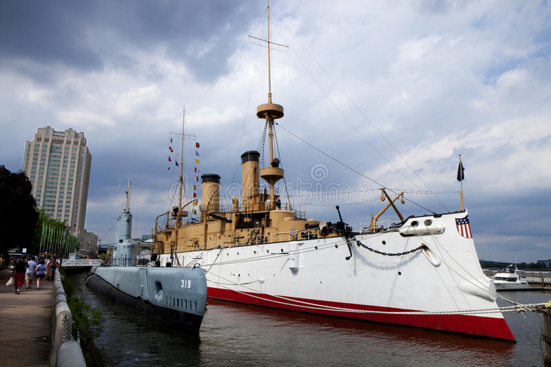 Museu do porto da independência em Philadelphfia, Pensilvânia foto de stock
