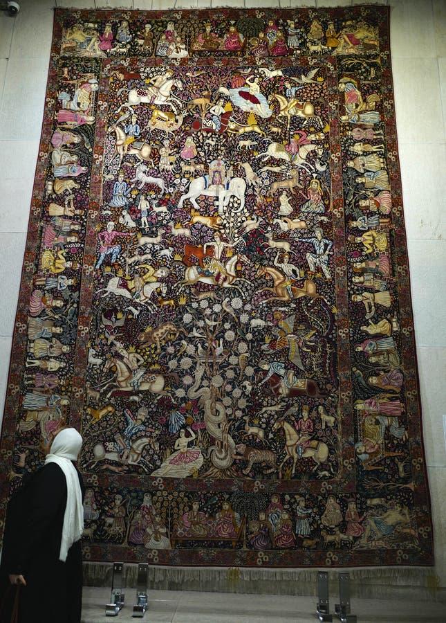 Museu do tapete de Irã fotos de stock