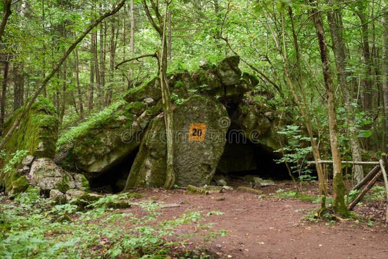 Museu do Toca-depósito do ` s do lobo no Polônia imagens de stock