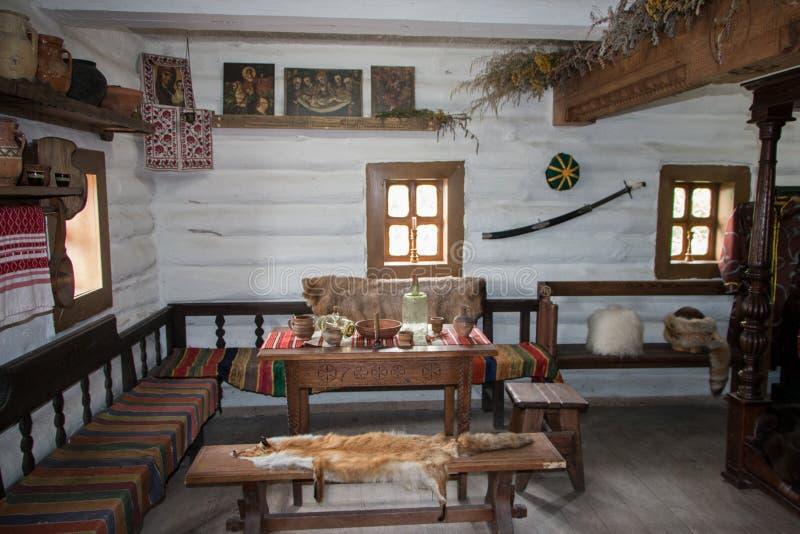 Museu dos cossacos de Zaporozhye foto de stock