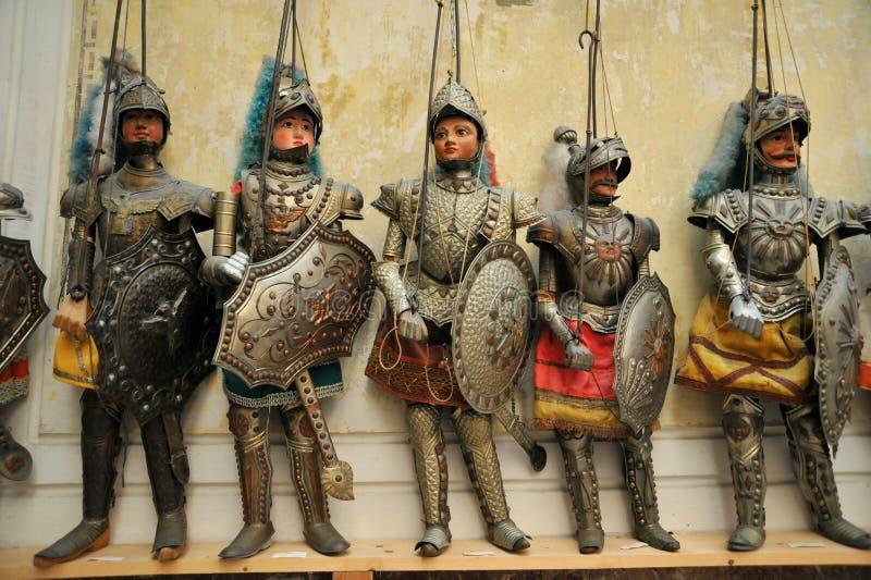 Museu dos marionetes em Palermo, Sicília, Itália fotos de stock royalty free