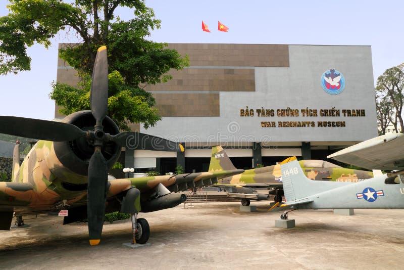 Museu dos restos da guerra de Vietnam imagem de stock