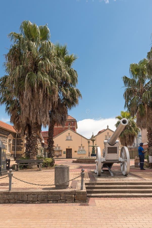 Museu e canhão do cerco da guerra de Boer Anglo em Ladysmith fotos de stock royalty free