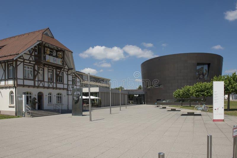 Museu e loja de brinquedos Steiff em Giengen e der Brenz próximo à fábrica da imagens de stock