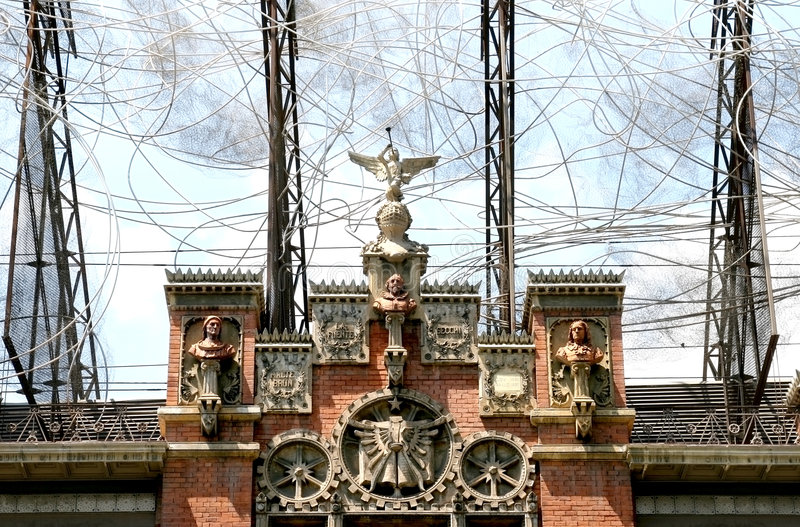 Museu Fundació Antoni Tapie, Barcelona foto de stock