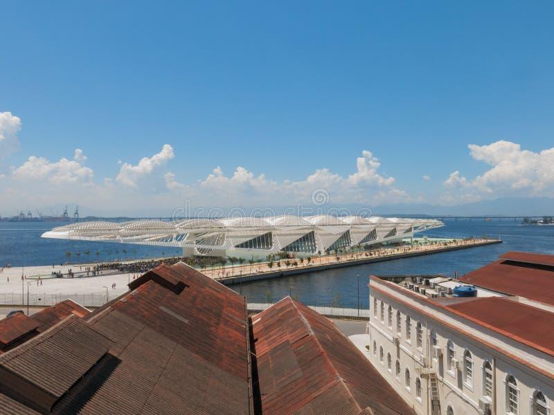 Museu gör Amanha (museet av morgondagen), Rio de Janeiro, Brasilien royaltyfria foton