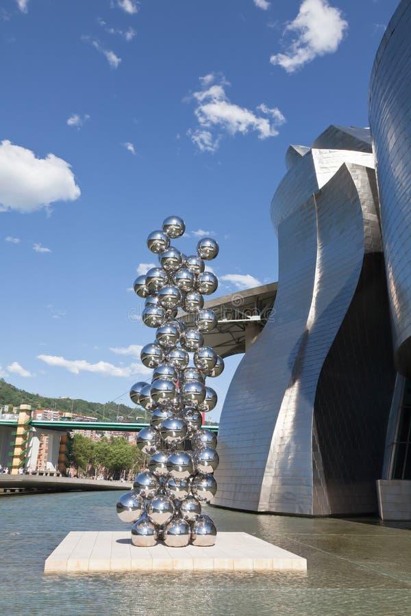Museu Guggenheim Bilbao da arte contemporânea imagem de stock