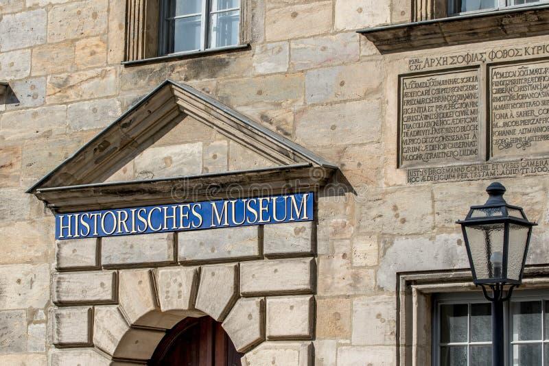 Museu histórico - cidade velha de Bayreuth fotografia de stock