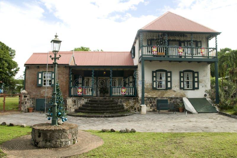Museu histórico da fundação do St. Eustatius fotografia de stock royalty free