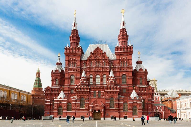 Museu histórico do estado no quadrado vermelho em Moscou, Rússia fotos de stock