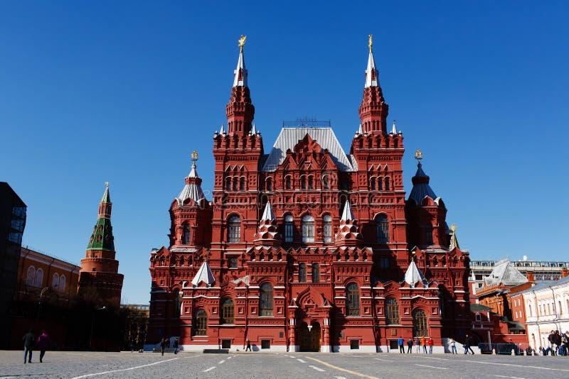 Museu histórico do estado no quadrado vermelho Moscovo, Rússia imagens de stock