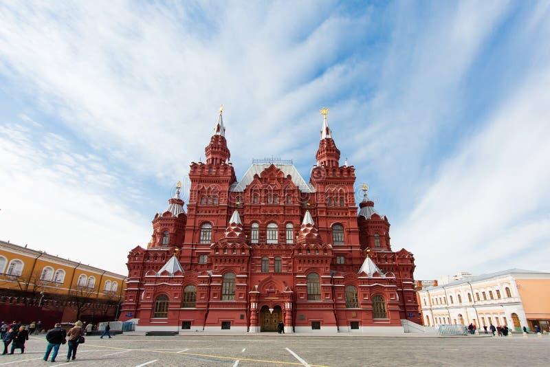 Museu histórico do estado no quadrado vermelho Moscovo, Rússia fotos de stock