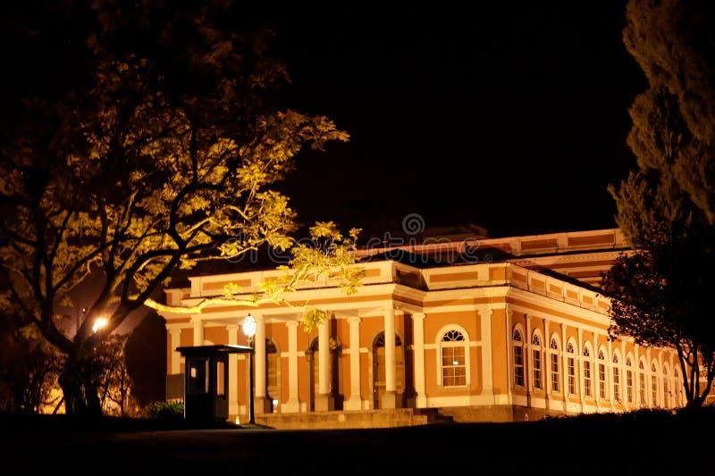 Museu imperial em a noite Petropolis foto de stock