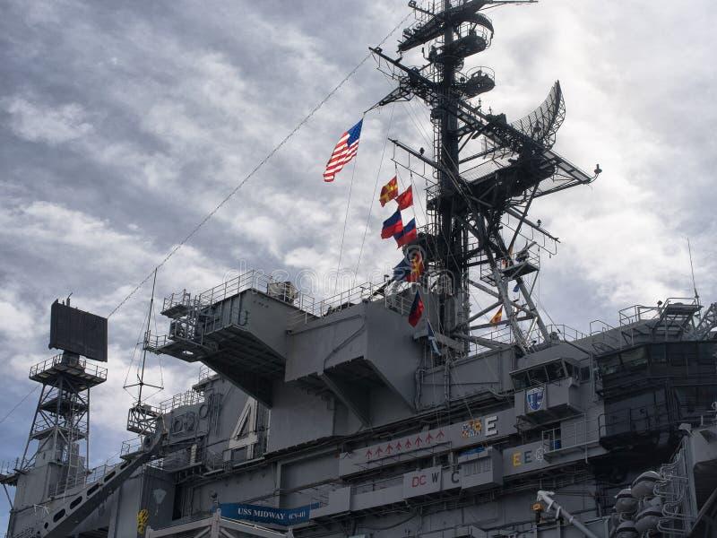 Museu intermediário do porta-aviões de USS, imagem de stock royalty free