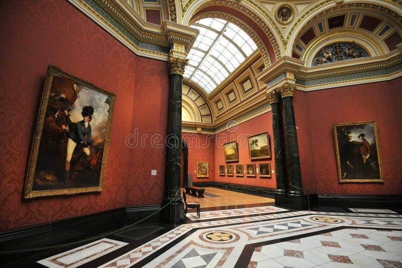 Museu interno do National Gallery em Londres, Inglaterra fotos de stock royalty free