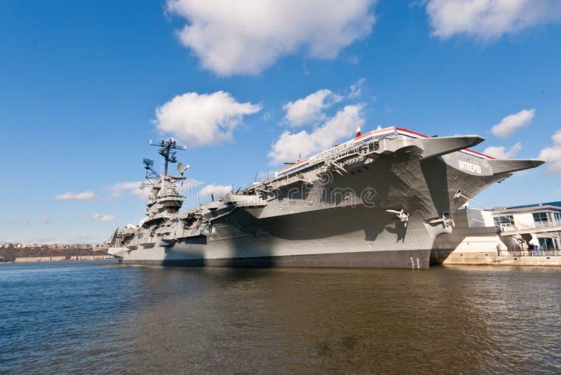 Museu intrépido NYC de USS imagens de stock royalty free