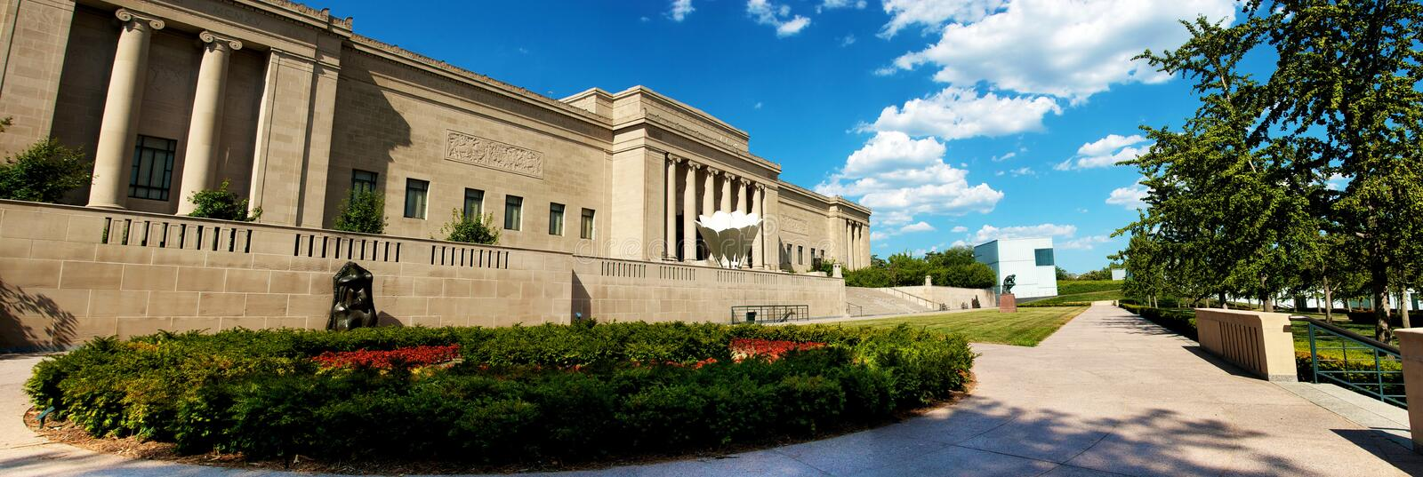 Museu Kansas City de Nelson Atkins foto de stock