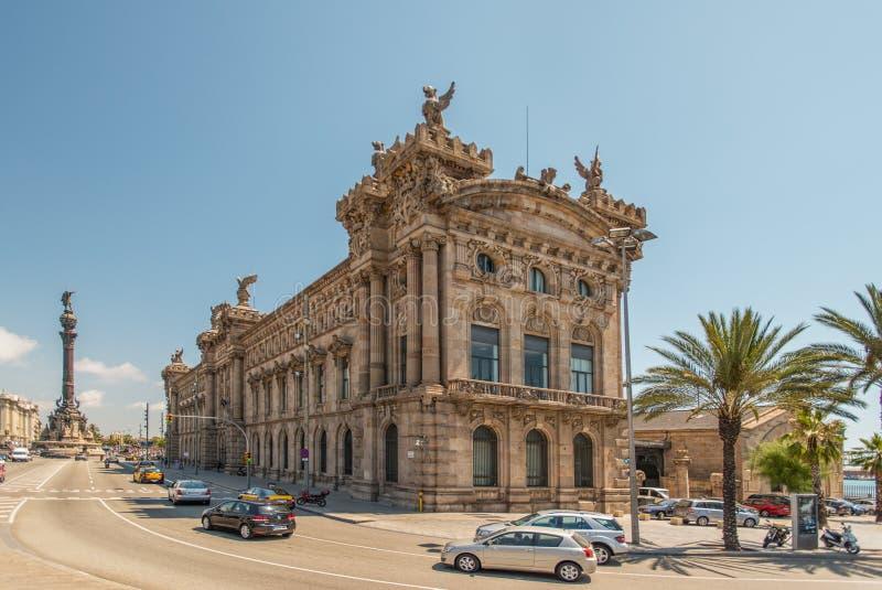 Museu marítimo em Barcelona fotos de stock