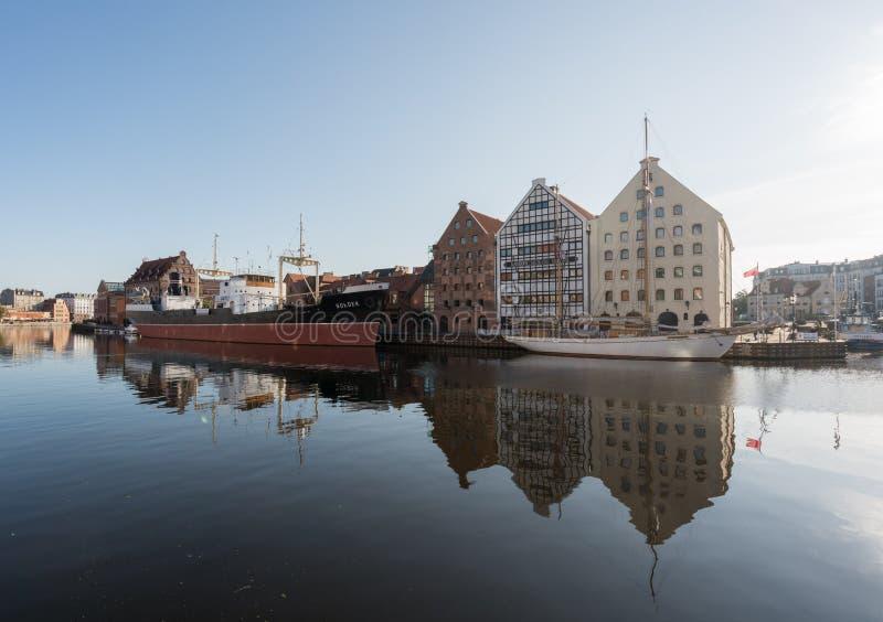 Museu marítimo nacional no Polônia de Gdansk fotografia de stock