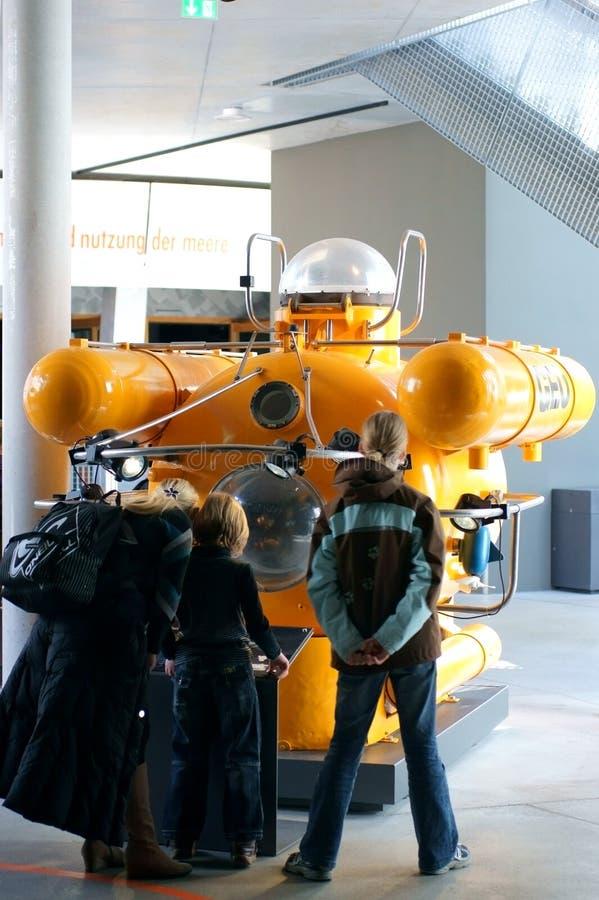 Museu marítimo Stralsund do barco subaquático do mar profundo fotografia de stock royalty free