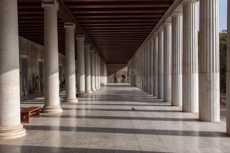 Museu na ágora antiga Atenas Greece imagens de stock