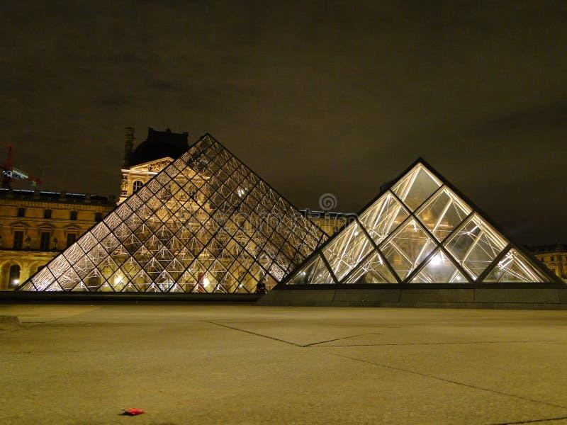 Museu na noite imagem de stock royalty free