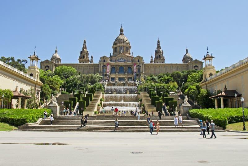 Museu Nacional d'Art DE Catalunya royalty-vrije stock foto's